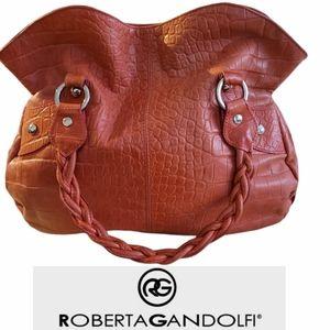 Roberta Gandolfi  Italian Leather Satchel/Tote